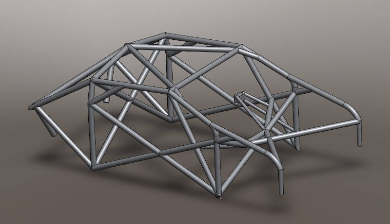 R4 Rally Car Roll Cage